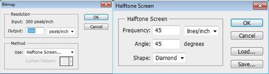 Bitmap and Halftone Screen